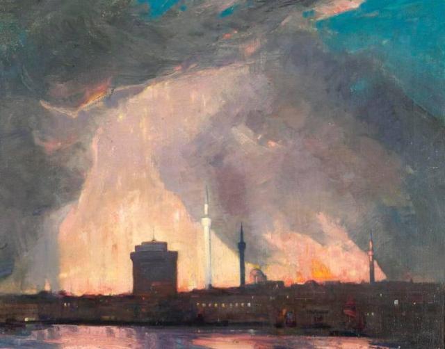 Μιναρέδες στην πυρκαγιά. William Wood