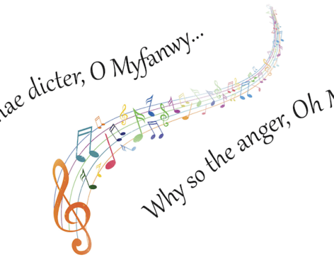 Myfanwy first line song lyric