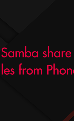 Android Samba Sharing - Copying files from Phone directory