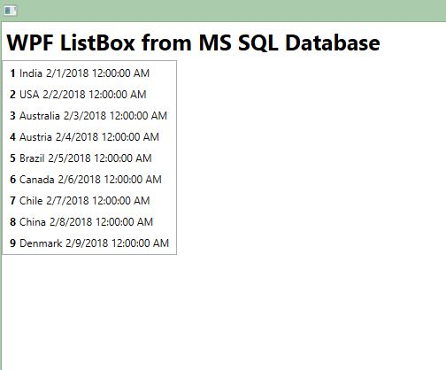 WPF Listbox SelectionChanged - Get SelectedItem • ParallelCodes
