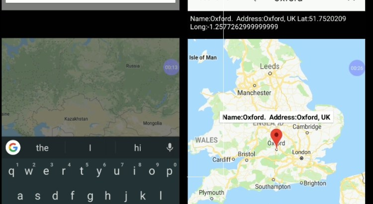 Android Google Map Add AutoComplete Place search 01
