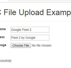 How to Upload File ASP.NET MVC with Database – Example