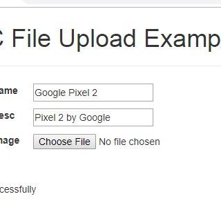 MVC – How to Upload File ASP.NET MVC with Database – Example