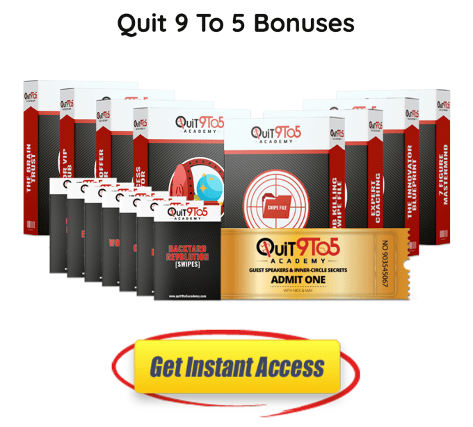 the Quit 9 To 5 Academy course