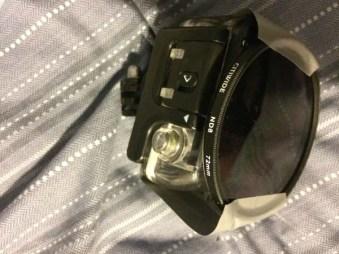 19.) Para asegurar tu cámara a prueba de agua...