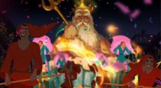 La princesa y el Sapo - El Rey Tritón aparece de repente.