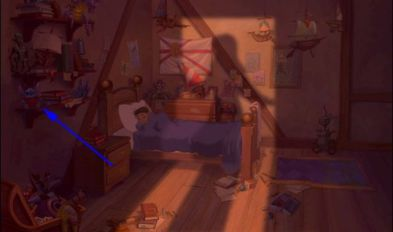 El planeta del tesoro - Entre los juguetes hay un peluche de Stitch.