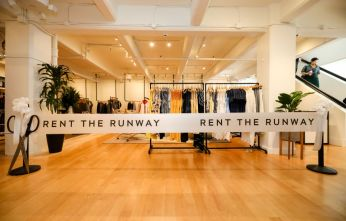 SAN FRANCISCO, CALIFORNIA - MAY 08: General view of the ribbon before the launch of Rent the Runway's West Coast flagship store on May 08, 2019 in San Francisco, California. (Photo by Kelly Sullivan/Getty Images for Rent the Runway)