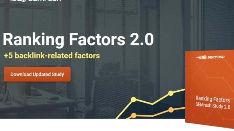 Έρευνα SEO: Οι τοπ 17 ranking factors από το SEMrush 2017