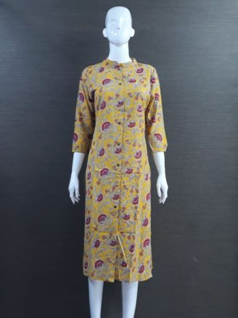 Cotton Fabric With Print Kurti