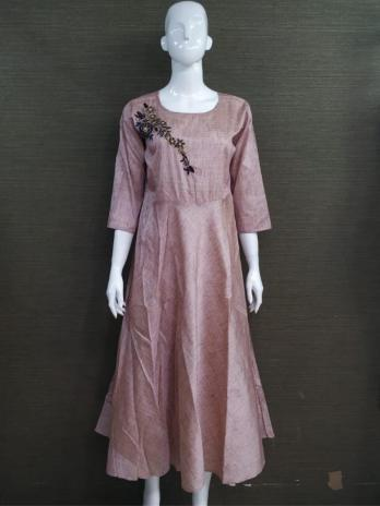 Silk Fabric Gown