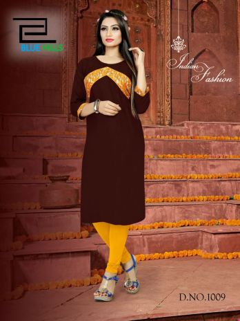 Gems Regular Wear Rayon Kurti