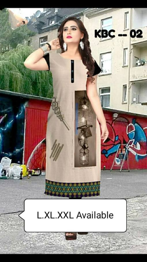 Crepe Kurti Dress
