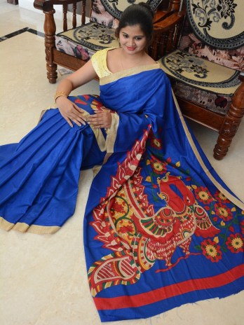 Manipuri / Linen Chanderi Silk Saree