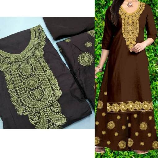 Kurti with Plazzo and Dupatta
