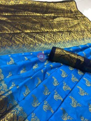 Blaton Raw silk Rich pallu saree