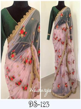 Nylon Mono Net Saree