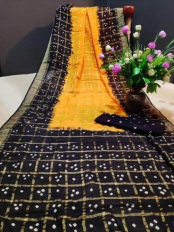 Handicraft Cotton Bandhej Saree