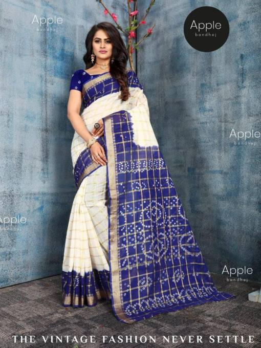 Pure Cotton Bandhej Saree