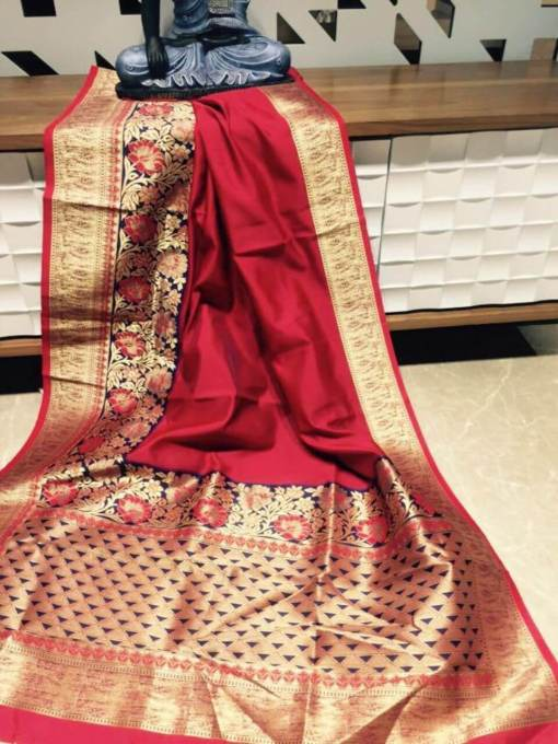 Banarasi silk weaving saree
