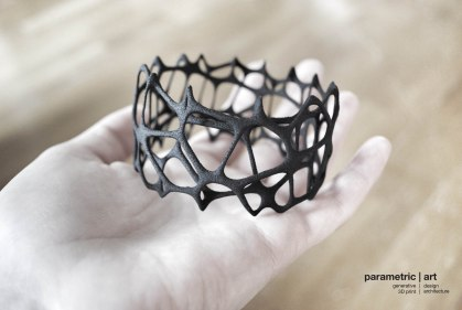 designed and photographed by parametric | art, 3d printed by Shapeways http://shpws.me/KVjn