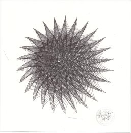 Abstract art, black hole drawing