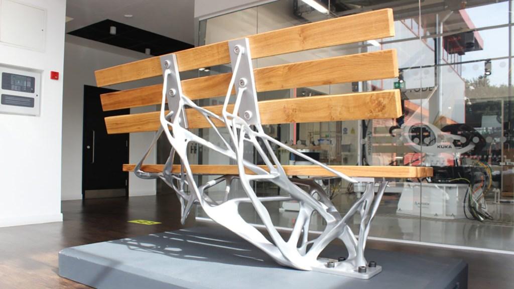 Generative designed public bench