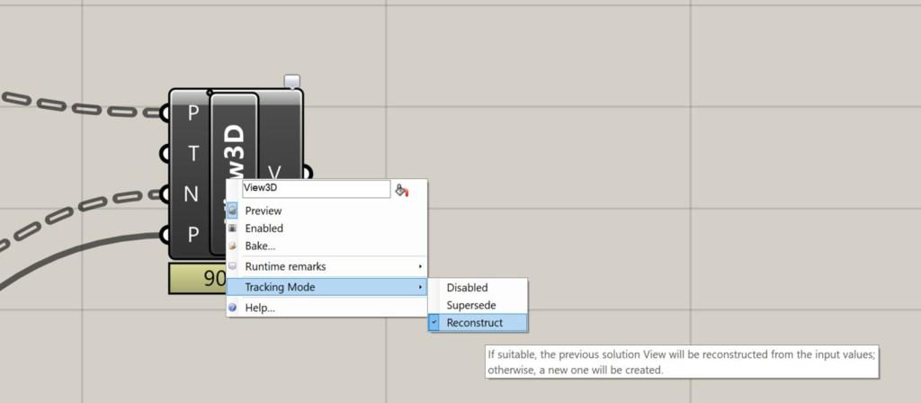 Rhino.Inside Revit tracking mode