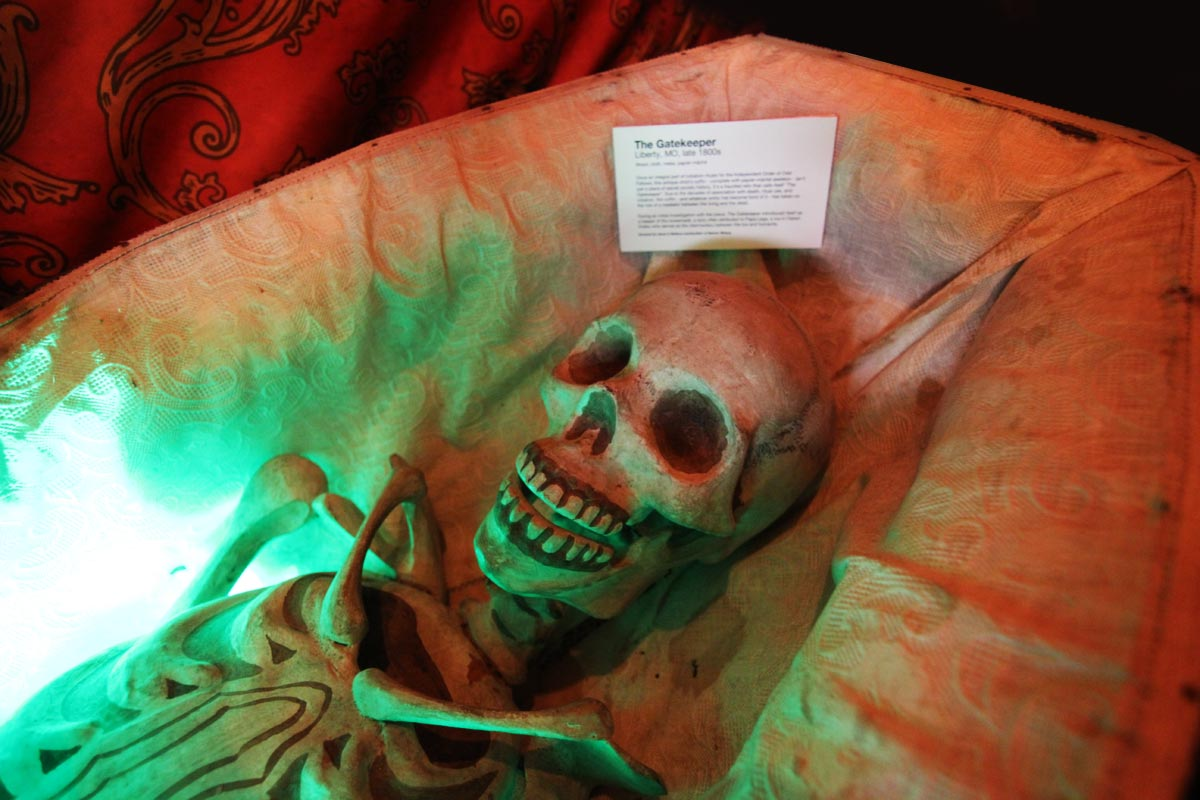 The Gatekeeper, a powerful haunted artifact in Greg & Dana Newkirk's Traveling Museum of the Paranormal & Occult.