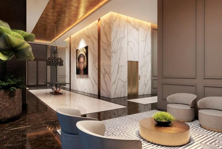 Casa Milano parte interna do novo arranha-céu de Curitiba