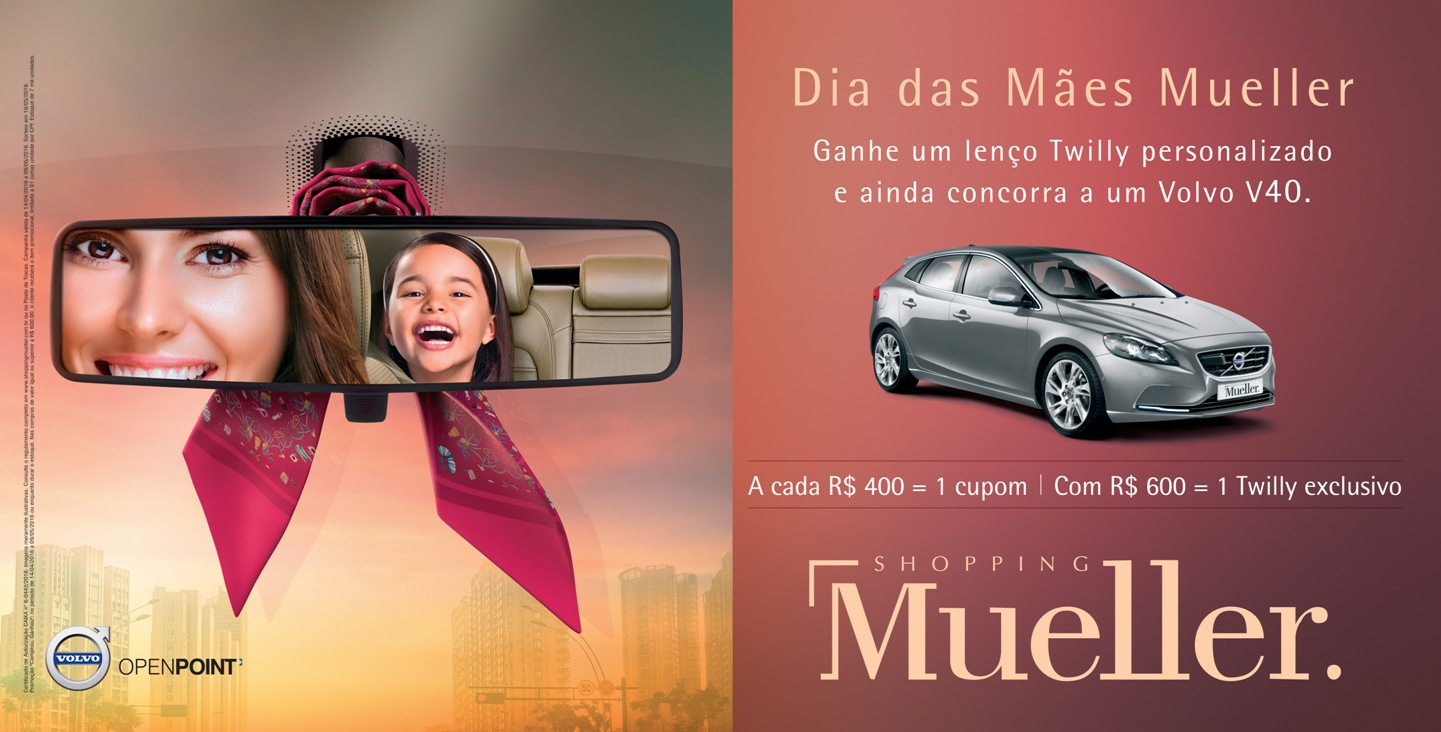 Carro de luxo e presentes personalizados no Dia das Mães do Shopping Mueller