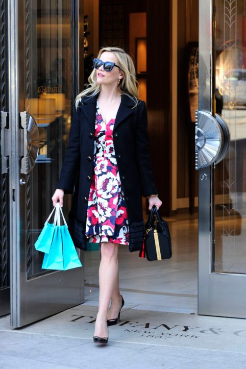 - Beverly Hills, CA - 12/05/2016 - Reese Witherspoon added a little sparkle to her holiday shopping with a visit to Tiffany & Co Beverly Hills. -PICTURED: Reese Witherspoon -PHOTO by: Michael Simon/startraksphoto.com -MS354372 Editorial - Rights Managed Image - Please contact www.startraksphoto.com for licensing fee Startraks Photo Startraks Photo New York, NY  For licensing please call 212-414-9464 or email sales@startraksphoto.com Image may not be published in any way that is or might be deemed defamatory, libelous, pornographic, or obscene. Please consult our sales department for any clarification or question you may have Startraks Photo reserves the right to pursue unauthorized users of this image. If you violate our intellectual property you may be liable for actual damages, loss of income, and profits you derive from the use of this image, and where appropriate, the cost of collection and/or statutory damages.