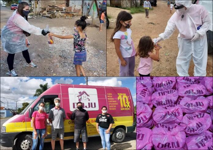 CUFA Curitiba recebe 2 toneladas de alimentos da Rede de lojas Daju