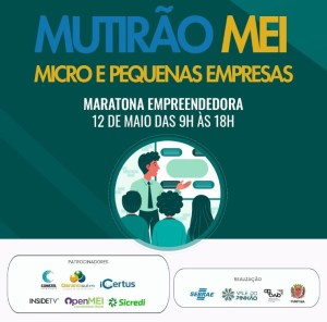 Sebrae/PR e Prefeitura de Curitiba realizam Mutirão do MEI no dia 12 de maio