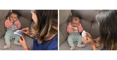 Bebês devem ser estimulados a segurar e alcançar objetos desde o nascimento, sugere estudo