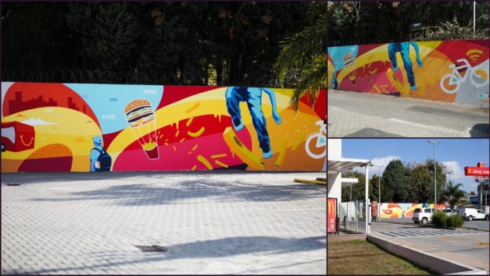 Méqui convida grafiteiros para transformarem o Drive-Tudo de 15 restaurantes pelo Brasil