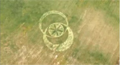 De cercles de céréales à Boorowa en Australie