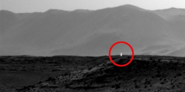 Une étrange lumière repérée sur Mars