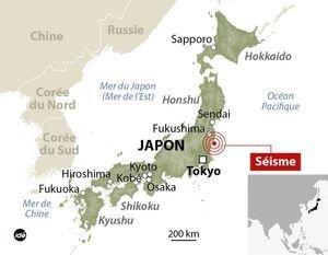 Fukushima fortement touché par un séisme