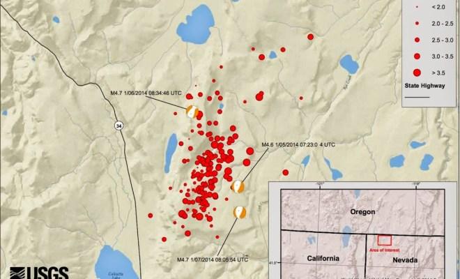 Nevada: 101 séismes ressentis depuis le 12 juillet, les autorités s'inquiètent