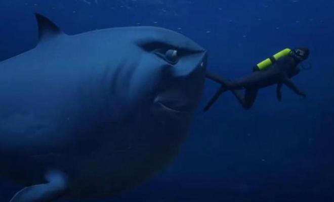 Il repousse un requin au couteau, se recoud et boit une bière