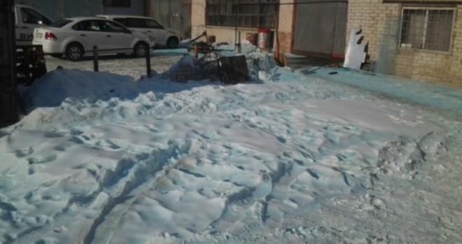 De la neige bleue tombe sur Chelyabinsk