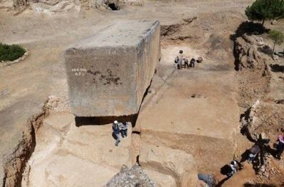 Découverte du plus grand bloc de pierre taillé datant de l'Antiquité