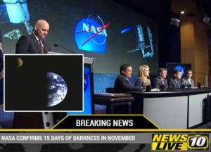 La NASA la confirmé, la Terre passera à travers une phase d'obscurité complète pendant 15 jours en Novembre prochain