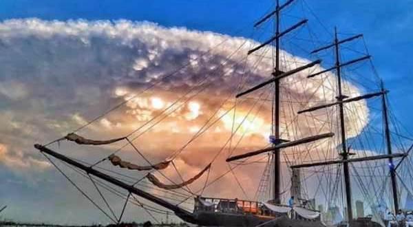 Ovni: Un vaisseau mère d'un kilomètre au dessus de Carthagène, Colombie