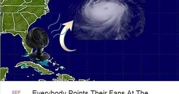 Plus de 58,000 personnes se sont rassemblées pour tenter de rediriger l'Ouragan Irma avec des ventilateurs