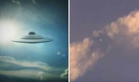 REGARDEZ le moment où un 'orbe extraterrestre' dissipe un nuage en forme de Chemtrail !