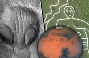 """Un """"visage extraterrestre"""" repéré sur Mars"""