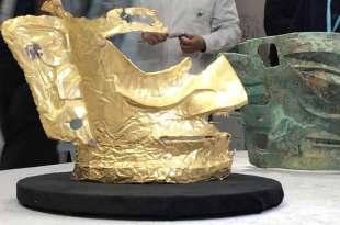 Des archéologues ont découvert un mystérieux masque en or vieux de 3000 ans