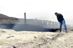 Un Mystérieux Objet Inconnu a provoqué un cratère près d'une route au Mexique